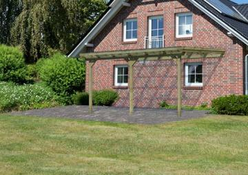 Karibu Holz Terrassenüberdachung Modell 3 ECO - Größe B (363 x 433) cm - kdi
