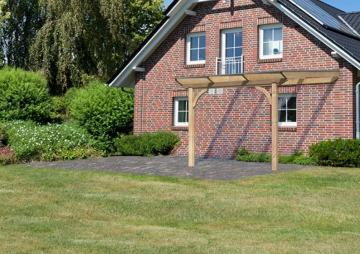 Karibu Holz Terrassenüberdachung Modell 3 Premium - Größe A (350 x 310 cm) - Douglasie rund