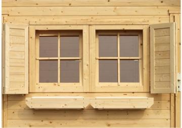 Karibu Fensterläden für 28 mm Doppelfenster (80 x 34 x 2,8 cm) - natur