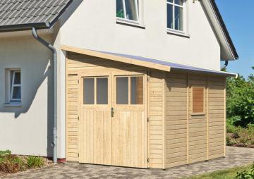 Karibu Gartenhaus Bomlitz 3 Pultdach 19 mm System -  natur