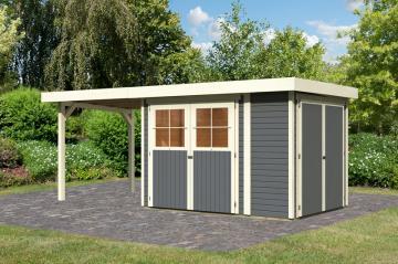 gartenhaus mit flachdach aus holz jetzt g nstig kaufen. Black Bedroom Furniture Sets. Home Design Ideas
