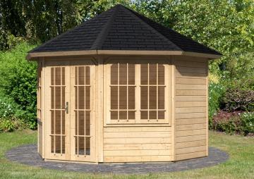 Sonderangebot: Karibu  Holzpavillon Roma 2 8-Eck - Premium - natur