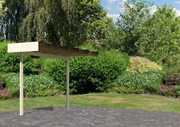 Karibu Schleppdach 300 cm kombinierbar zu Multi Cube 3 - Farbe: elfenbeinweiß