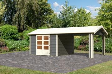 Woodfeeling Karibu Holz-Gartenhaus Tastrup 8 in naturbelassen (unbehandelt)