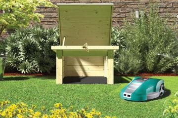 karibu holz garagen blockbohlengaragen zum selber bauen. Black Bedroom Furniture Sets. Home Design Ideas
