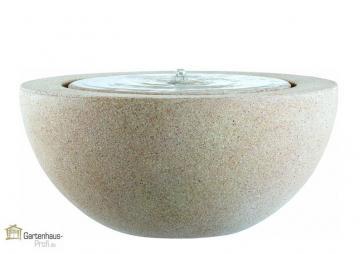 Emsa Gartenbrunnen Halbrund-Brunnen Loa  Ø 57x30 cm - granitgrau