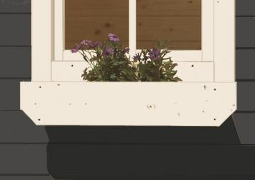 Karibu Blumenkasten inkl. Kunststoffeinsatz - elfenbeinweiß