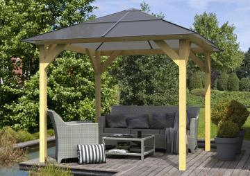 gefunden pavillons aus holz von karibu. Black Bedroom Furniture Sets. Home Design Ideas