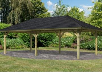 Sonderangebot: Karibu Holzpavillon Merida 1 4-Eck-Pavillon Eco inkl. Dachschindeln - kdi