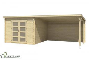 Lasita Maja Gartenhaus Flachdach Novia inkl. Schleppdach und Dachpappe