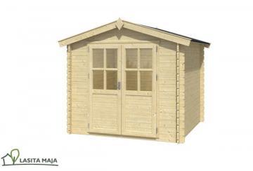 Lasita Maja Gartenhaus Blockbohlenhaus Satteldach Ingo 230 inkl. Dachpappe