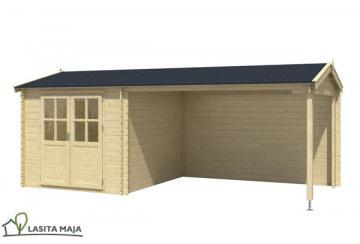 Lasita Maja Gartenhaus Satteldach Ivana inkl. Schleppdach und Dachpappe