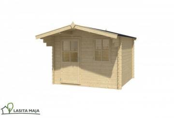 Lasita Maja Gartenhaus Blockbohlenhaus Satteldach Noha 230 inkl. Dachpappe