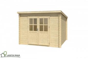 Lasita Maja Gartenhaus Blockbohlenhaus Flachdach Nadia 230 inkl. Dachpappe