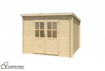 Lasita Maja Gartenhaus Blockbohlenhaus Flachdach Nadia 272 inkl. Dachpappe