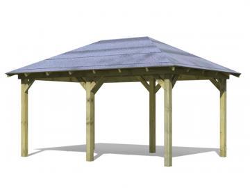 Angebot: Karibu Holz-Pavillon Set Perida, inkl. H-Pfostenanker und Rechteckschindeln - kdi