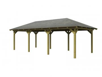Angebot: Karibu Holz-Pavillon Set Perida 2, inkl. H-Pfostenanker und Rechteckschindeln - kdi