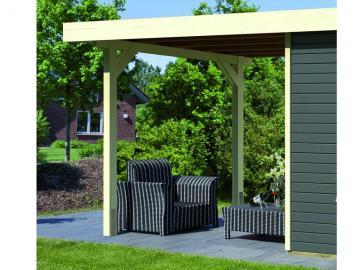 Karibu Holz-Gartenhaus  19mm  Schleppdach für Glücksburg 2 elfenbeinweiss