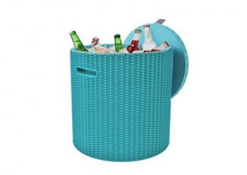 Tepro Cool Stool türkis - Kühlbox + Beistelltisch