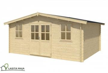 Lasita Maja Gartenhaus Blockbohlenhaus Satteldach Udo 300 inkl. Dachpappe