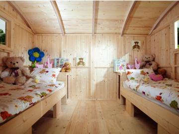 Wolff Finnhaus Camping Bauwagen aus Holz