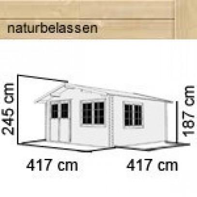 karibu gartenhaus hardenberg 2 satteldach 28 mm massiv natur. Black Bedroom Furniture Sets. Home Design Ideas