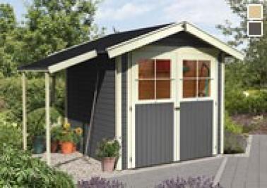 karibu gartenhaus harburg 5 satteldach 19 mm system terragrau. Black Bedroom Furniture Sets. Home Design Ideas