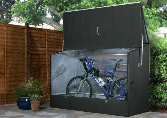 tepro metall fahrradbox 196x89x133cm anthrazit grau. Black Bedroom Furniture Sets. Home Design Ideas