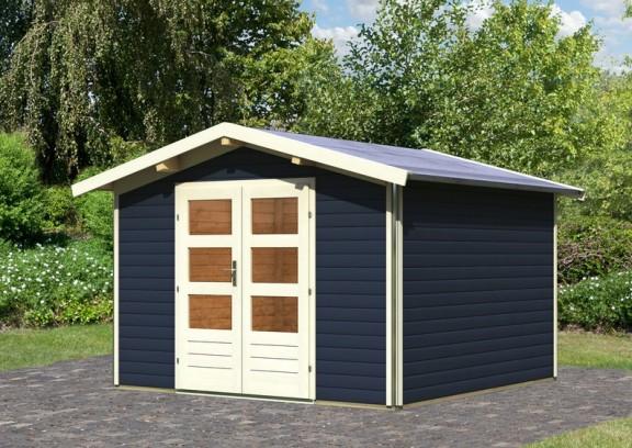 karibu gartenhaus angelburg 3 opalgrau. Black Bedroom Furniture Sets. Home Design Ideas