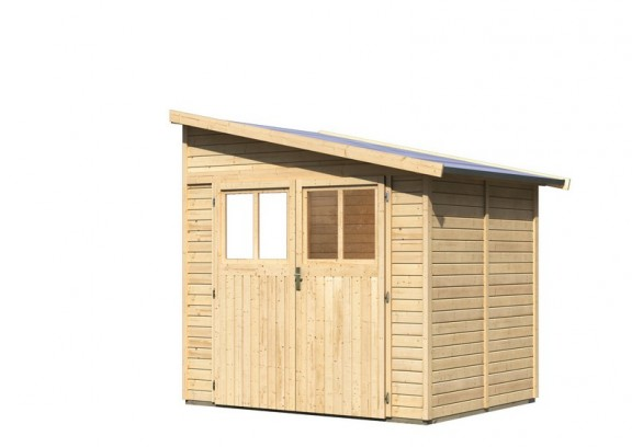 karibu gartenhaus bomlitz 2 pultdach 19 mm system natur. Black Bedroom Furniture Sets. Home Design Ideas