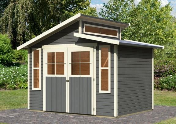 karibu gartenhaus grauburg 6 stufendach 19 mm system. Black Bedroom Furniture Sets. Home Design Ideas