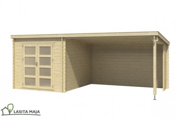 gartenhaus flachdach isabel inkl schleppdach und dachpappe. Black Bedroom Furniture Sets. Home Design Ideas