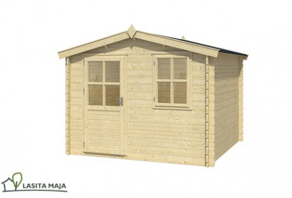 gartenhaus blockbohlenhaus satteldach nina 230 inkl dachpappe. Black Bedroom Furniture Sets. Home Design Ideas