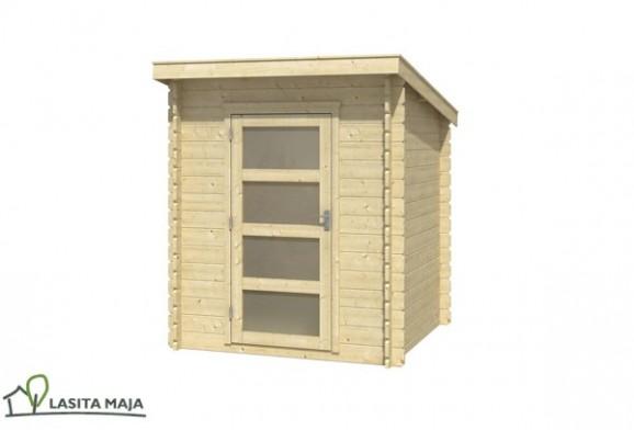 gartenhaus blockbohlenhaus flachdach jelle inkl dachpappe. Black Bedroom Furniture Sets. Home Design Ideas