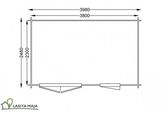 holz gartenhaus mit flachdach. Black Bedroom Furniture Sets. Home Design Ideas