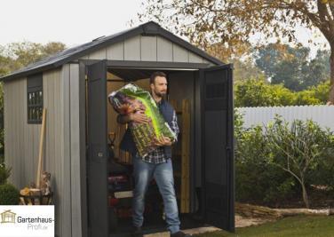 tepro kunststoff ger tehaus gartenhaus oakland 757 braun grau. Black Bedroom Furniture Sets. Home Design Ideas