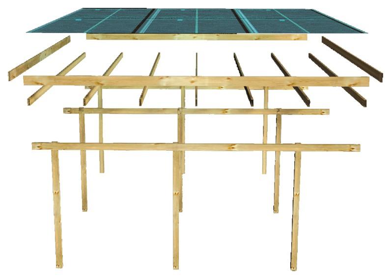 karibu einzelcarport eco 1 variante a kesseldruckimpr gniert. Black Bedroom Furniture Sets. Home Design Ideas