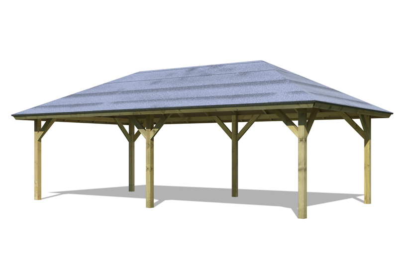 karibu holzpavillon holm 2 4 eck pavillon premium kdi. Black Bedroom Furniture Sets. Home Design Ideas