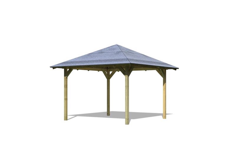 karibu holzpavillon corodba 4 eck pavillon eco kdi. Black Bedroom Furniture Sets. Home Design Ideas