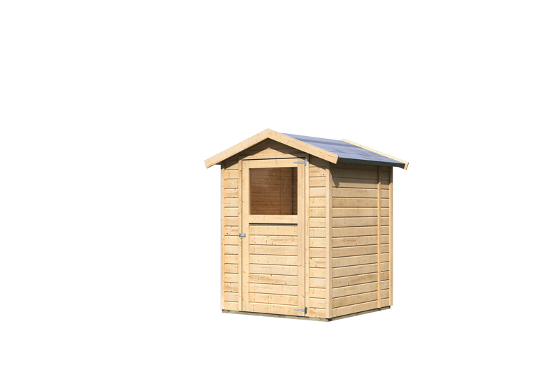 karibu gartenhaus felin 2 satteldach 14 mm system natur. Black Bedroom Furniture Sets. Home Design Ideas