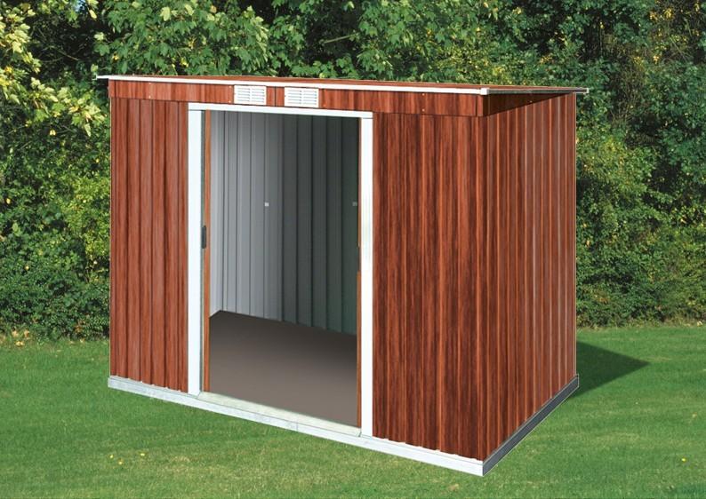 tepro ger tehaus metall pent roof 8x4 gr n. Black Bedroom Furniture Sets. Home Design Ideas