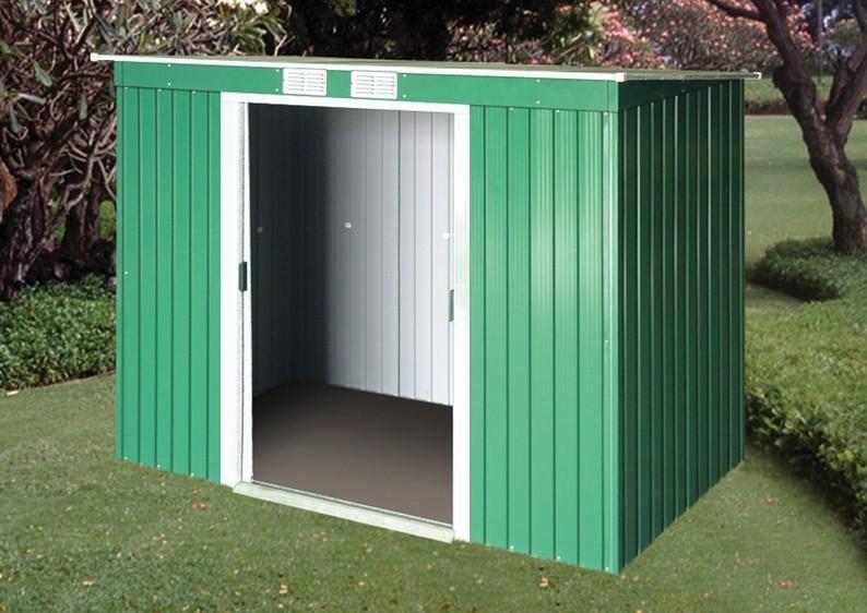 tepro ger tehaus metall pent roof 8x4 anthrazit. Black Bedroom Furniture Sets. Home Design Ideas