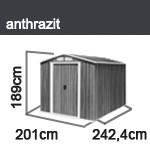 tepro ger tehaus metall riverton 6x8 anthrazit. Black Bedroom Furniture Sets. Home Design Ideas
