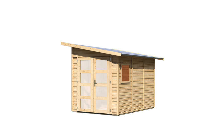 karibu gartenhaus teplitz 3 pultdach 19 mm system natur. Black Bedroom Furniture Sets. Home Design Ideas