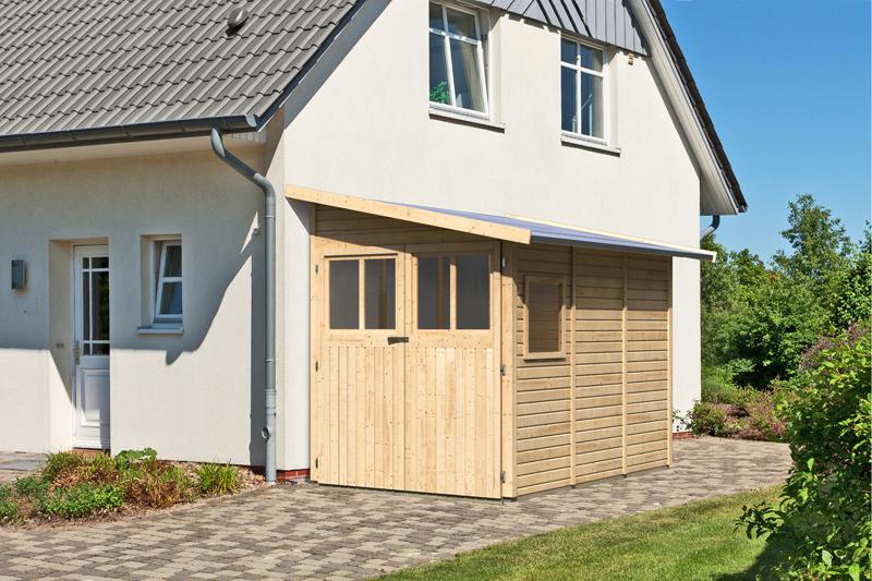 karibu gartenhaus wandlitz 3 pultdach 19 mm system natur. Black Bedroom Furniture Sets. Home Design Ideas