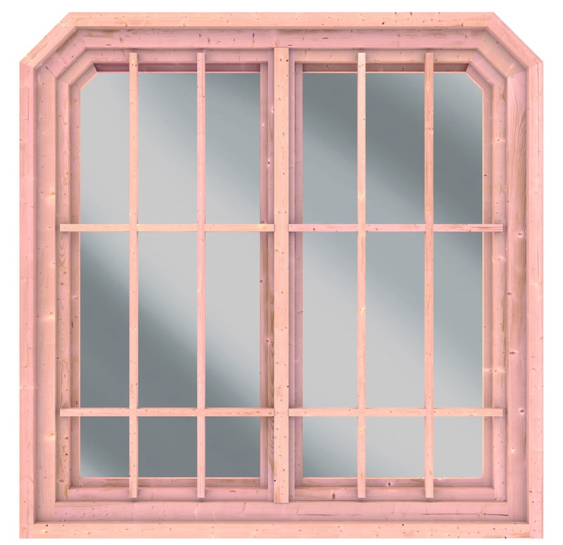 karibu fenster dreh doppelfenster f r pavillon roma 2 127 x 127 cm natur echtglas. Black Bedroom Furniture Sets. Home Design Ideas