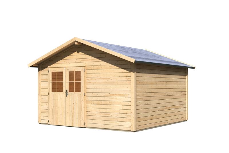 karibu gartenhaus oldeborg 2 satteldach 28 mm system natur. Black Bedroom Furniture Sets. Home Design Ideas