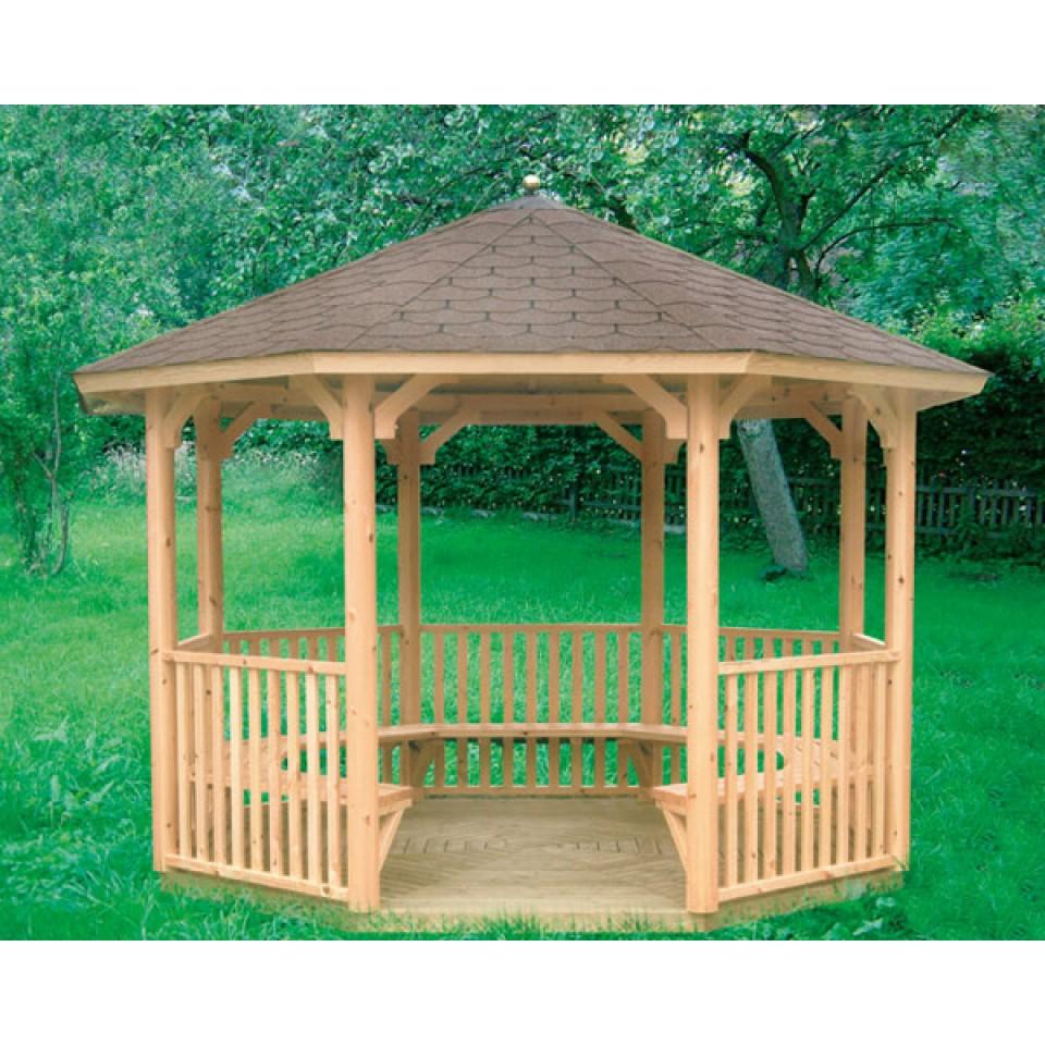 Wolff Finnhaus GartenHolz Gartenpavillon aus Holz Kreta 8: Grundbauset
