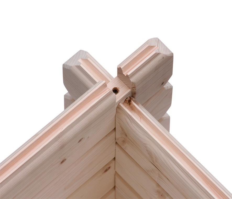 woodfeeling gartenhaus felsenau 4 satteldach 38 mm. Black Bedroom Furniture Sets. Home Design Ideas