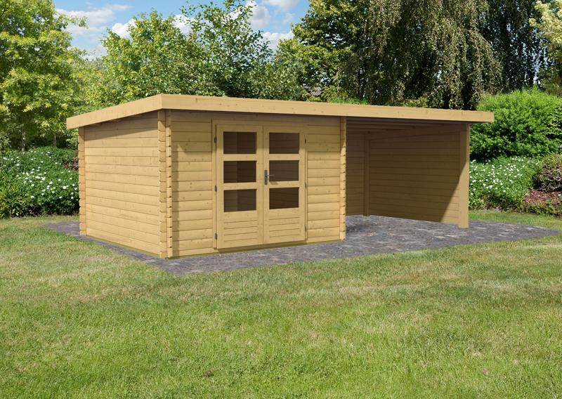 woodfeeling gartenhaus pultdach bastrup 5 28 mm mit 3 m schleppdach inkl seiten und r ckwand. Black Bedroom Furniture Sets. Home Design Ideas